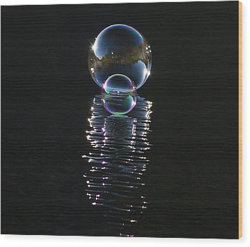 The Reflection  Wood Print by Terry Cosgrave