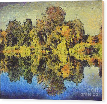 The Reflections Wood Print by Odon Czintos