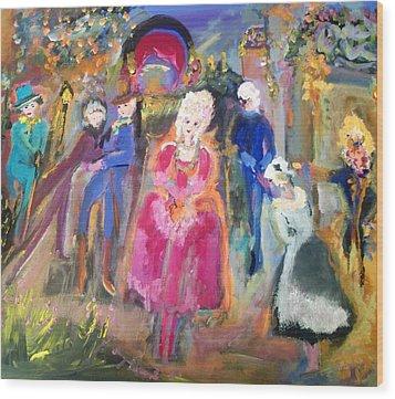 The Regency Ballet Wood Print by Judith Desrosiers