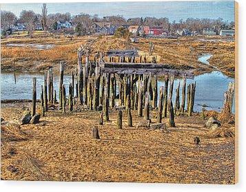 The Remains Of A Wellfleet Bridge Wood Print