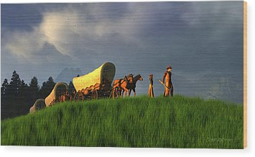 The Restless Scout Wood Print by Dieter Carlton