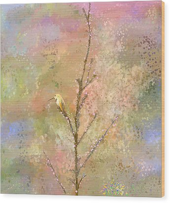 The Restlessness Of Springtime Rest Wood Print by Angela A Stanton