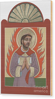 Wood Print featuring the painting The Retablo Of San Lorenzo Del Fuego 253 by William Hart McNichols