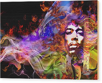 The Return Of Jimi Hendrix Wood Print