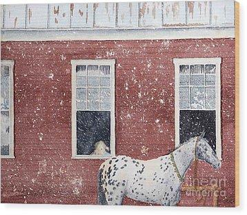 The Ride Home Wood Print by LeAnne Sowa