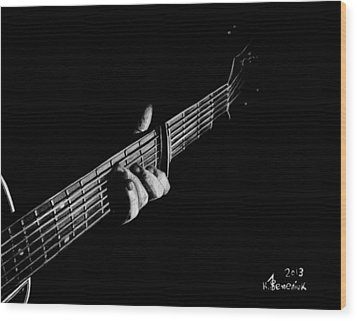 The Right Chord Wood Print by Kayleigh Semeniuk