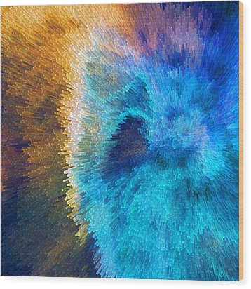 The Right Direction - Abstract Art By Sharon Cummings Wood Print by Sharon Cummings
