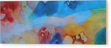 The Right Path - Colorful Abstract Art By Sharon Cummings Wood Print by Sharon Cummings
