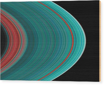 The Rings Of Saturn Wood Print by Anonymous