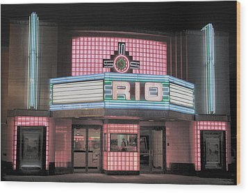 The Rio At Night Wood Print by Lynn Sprowl