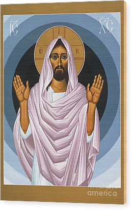 The Risen Christ 014 Wood Print by William Hart McNichols