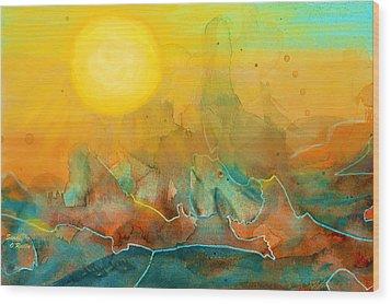 The Rising Sun Wood Print by Sandi OReilly