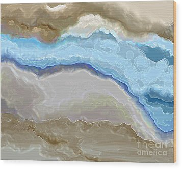 Wood Print featuring the digital art The River by Lena Wilhite