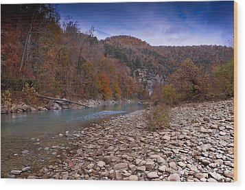 The River Runs Through Wood Print by Renee Hardison