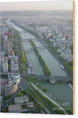 Wood Print featuring the photograph The River Seine by Deborah Smolinske
