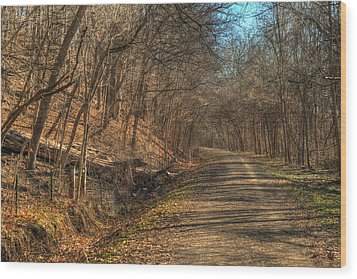 The Road Goes Ever On Wood Print by William Fields