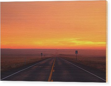 Wood Print featuring the photograph The Road Goes On And On by Lynn Hopwood