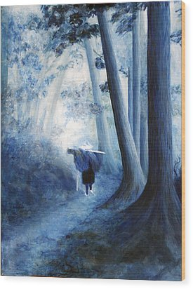 The Road Home Wood Print by Donna Walsh