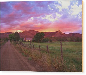 The Road Home Wood Print by Feva  Fotos