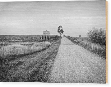 The Road Home Wood Print by Jeff Burton
