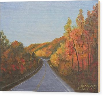 The Road Home Wood Print by Sherri Anderson