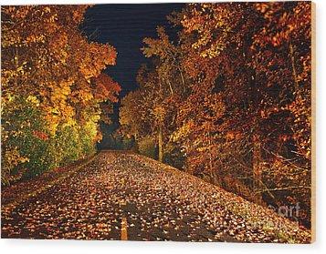 The Road Less Traveled - Blue Ridge Parkway I Wood Print by Dan Carmichael