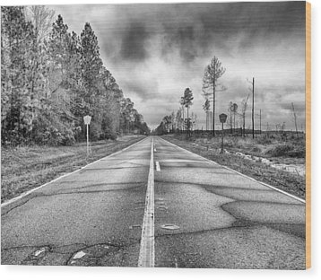 The Road Less Traveled Wood Print by Howard Salmon