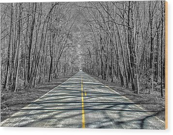 The Road Wood Print by Steven  Taylor