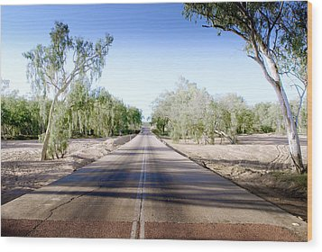 Wood Print featuring the photograph The Road To Back Of Beyond by Holly Kempe
