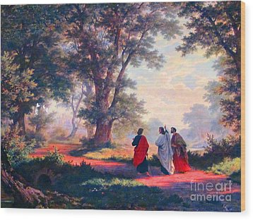 The Road To Emmaus Wood Print