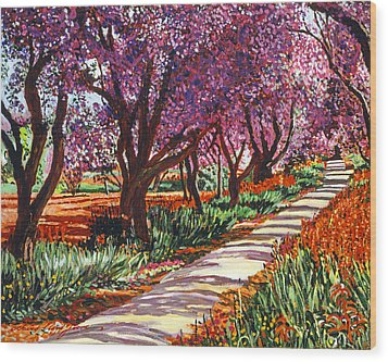 The Road To Giverny Wood Print by David Lloyd Glover