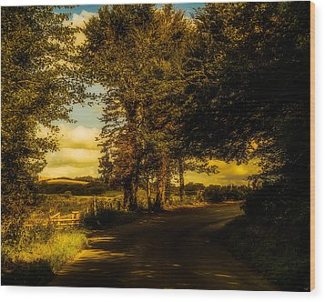 Wood Print featuring the photograph The Road To Litlington by Chris Lord