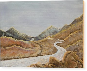 Wood Print featuring the painting The Road To Nowhere by Susan Culver
