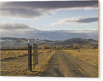 The Road To The Mountains Wood Print by Dana Moyer