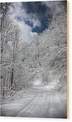 The Road To Winter Wonderland Wood Print by John Haldane