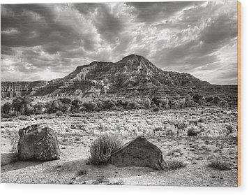 Wood Print featuring the photograph The Road To Zion In Black And White by Tammy Wetzel