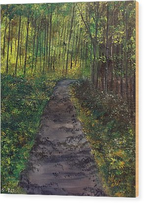 The Roads Not So Easy Wood Print