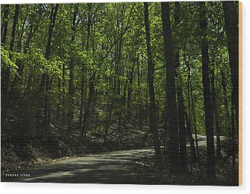 The Roads Of Alabama Wood Print