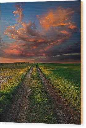 The Roads We Take Wood Print by Phil Koch