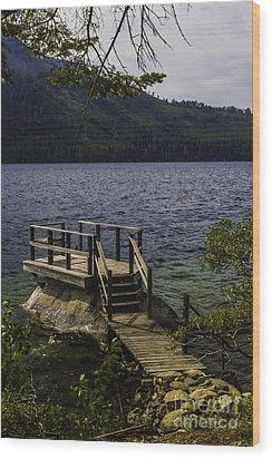 The Rock Dock Wood Print by Mitch Shindelbower