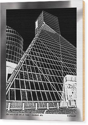 The Rock Hall Cleveland Wood Print by Kenneth Krolikowski