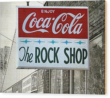 The Rock Shop Wood Print