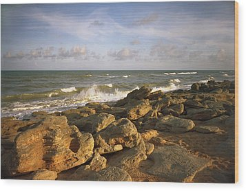 The Rocks Iv. Flagler County. Wood Print