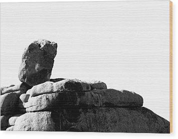 The Rocks Of Contrast Wood Print by Carolina Liechtenstein