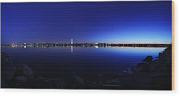 The Rocks Of The Potomac Wood Print by Metro DC Photography