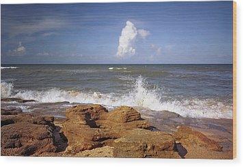 The Rocks V. Flagler County. Wood Print