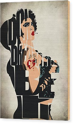 The Rocky Horror Picture Show - Dr. Frank-n-furter Wood Print