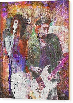The Rolling Stones Original Painting Print  Wood Print