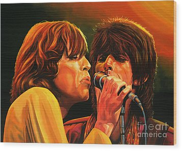 The Rolling Stones Wood Print by Paul Meijering