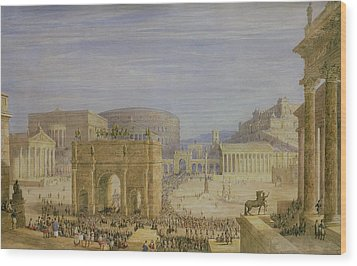 The Roman Forum Wood Print by Francis Vyvyan Jago Arundale